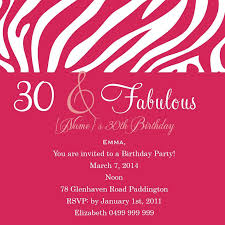 30th birthday invitation wording badbrya com