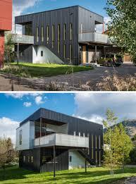 contemporary modern house there u0027s a climbing wall on the side of this house in wyoming