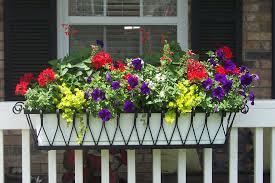 decor stylish deck rail planters for outdoor decoration ideas