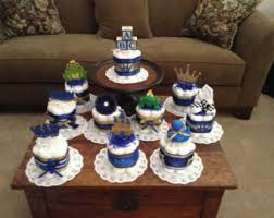 Diaper Cake Centerpieces by Little Prince Baby Shower Diaper Cakes Centerpieces Other