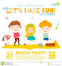 stag do invite beach party invitation stock vector image 51409364