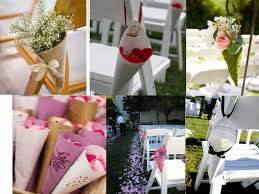 idee original pour mariage idee decoration ceremonie mariage cone en papier accroches