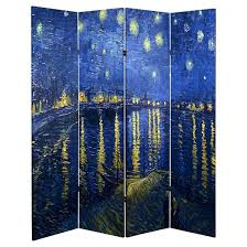 Room Dividers Cheap Target - van gogh fine art double sided room divider starry night and