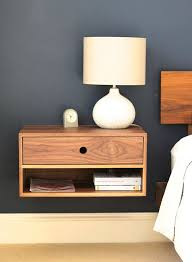 Nightstand With Shelf Bedside Shelf Suspended Bedside Table Bedside Shelves