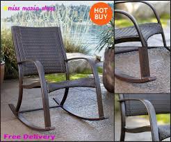 garden rocker chair patio furniture recliner seat pool chairs