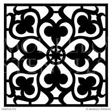 tile stencils for custom painted floor walls ceiling u2013 modello