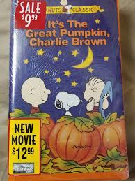 its the great pumpkin brown vhs 1994 slipsleeve ebay