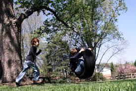 backyard playground equipment tire swing ideas