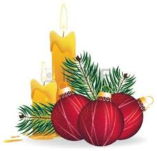 christmas candle and poinsettia flowers royalty free cliparts