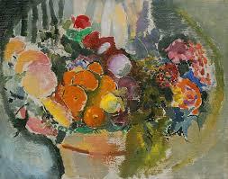 basket of fruit arthur b carles basket of fruit and flowers