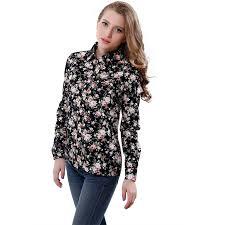 womens cotton blouses s floral print blouses cotton shirts vintage turn