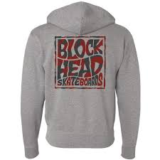 blockhead square logo zipper hoody in stock now