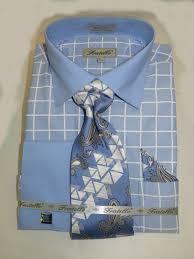 fratello frv4132 light blue s cuff dress shirt with