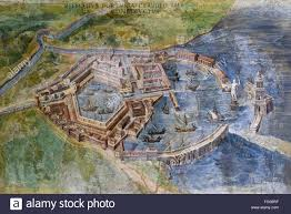 Map Rome Italy by Rome Italy Painting Of The Portus An Artificial Harbour Stock