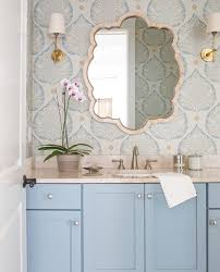 Wallpaper Bathroom Designs by Bathroom Decorating Ideas Powder Room With Floating Vanity And