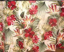 Hawaiian Curtain Fabric Tropical Floral Shower Curtains Ebay