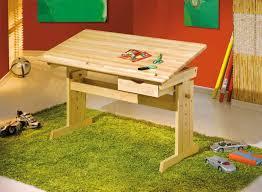 bureau dessinateur table dessinateur paco en bleue réglable en hauteur et inclinable