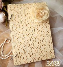 diy wedding photo album handmade golden lace diy wedding photo album with flower scrapbook