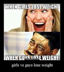 Losing Weight Meme - girls vs guys lose weight pumpingbody pump your body