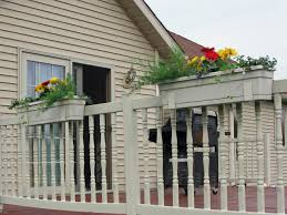 Porch Rail Flower Boxes by Vinyl Fence Hanging Planters Fence And Fencing