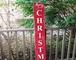 vertical outdoor sign front door decor noel sign