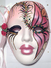 ceramic mardi gras masks for sale porcelain mardi gras mask ebay