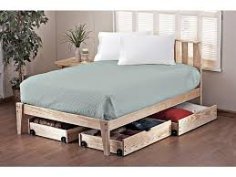 bed frame impressive twin platform bed with wooden storage and