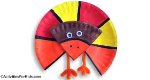 easy paper plate turkey craft for