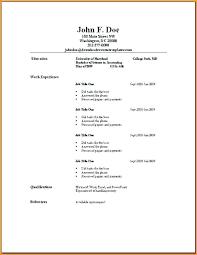 simple resumes templates simple resumes sles simple underline resume template simple