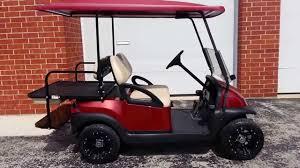 burgundy metallic gas club car golf cart custom rims u0026 color