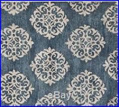 Blue Wool Rug Barn Persian 8x10 Empire Scroll Tile Indigo Blue Wool Area Rug Carpet