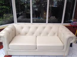 chesterfield sofa beds cream leather sofa bed dfs ritz chesterfield style in sandwell
