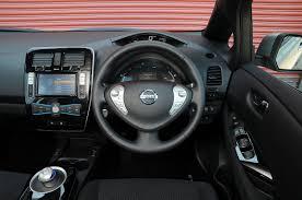 nissan leaf interior nissan leaf visia nissan leaf front cornering auto express