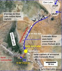 Colorado River Map by Karst Piracy A Mechanism For Integrating The Colorado River