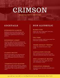 bar menu templates canva