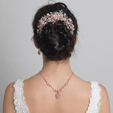 bridal hair bun clear rhinestone floral vine bridal wedding hair bun wrap comb 5096