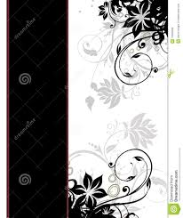 Cover Page Template Elegant Floral Page Border Template Cover Page Royalty Free Stock