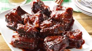barbecued beef ribs recipe taste of home