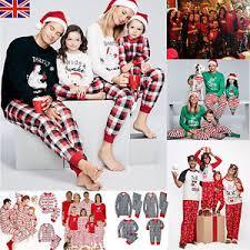 uk family matching pajamas pjs sets parents