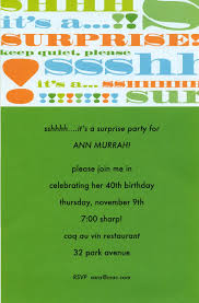 amazing surprise birthday party invitation wording theruntime com