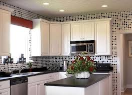 black and white wallpaper for kitchen herringbone backsplash