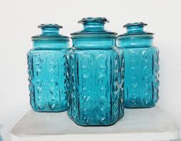 Glass Kitchen Canisters 100 Blue Kitchen Canisters Mason Jar Canisters Color Glass