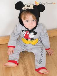Mickey Mouse Toddler Costume Disney Baby Mickey Mouse Minnie Romper Hood Toddler Fancy Dress