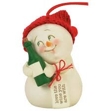 the wine you are with snowman snowpinions ornament