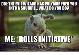 Dramatic Squirrel Meme - dm the evil wizard has polymorphed you into a squirrel what do you