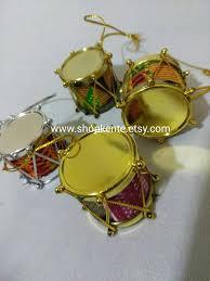 4 drum ornaments tree ornaments