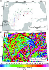 Gulf Of Mexico Depth Map by Gravity And Magnetic Constraints On The Jurassic Opening Of The