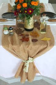 jute table runner for thanksgiving table settings
