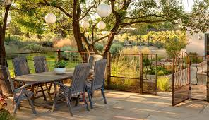 Wire Patio Chairs Wire Fence Panels Landscape Contemporary With Birch Branches