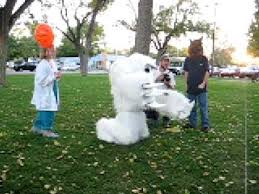 abominable snowman costume yeti gives hugs abominable snowman costume